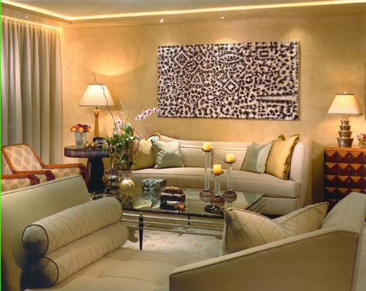 Decoração de interiores sala de estar decorada a branco, beje