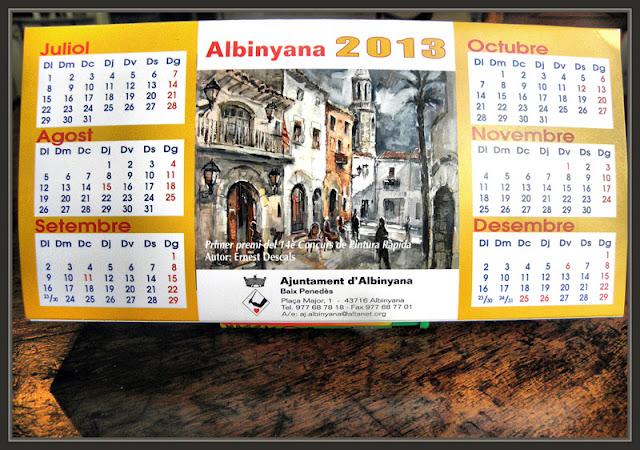 ALBINYANA-PINTURA-PREMIOS-PREMIS-AJUNTAMENT-TARRAGONA-CALENDARI--QUADRES-CUADROS-PINTOR-ERNEST DESCALS-
