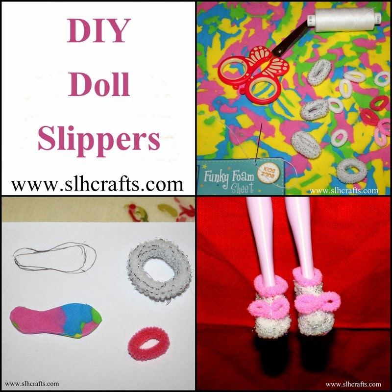 DIY Doll Slippers Tutorial