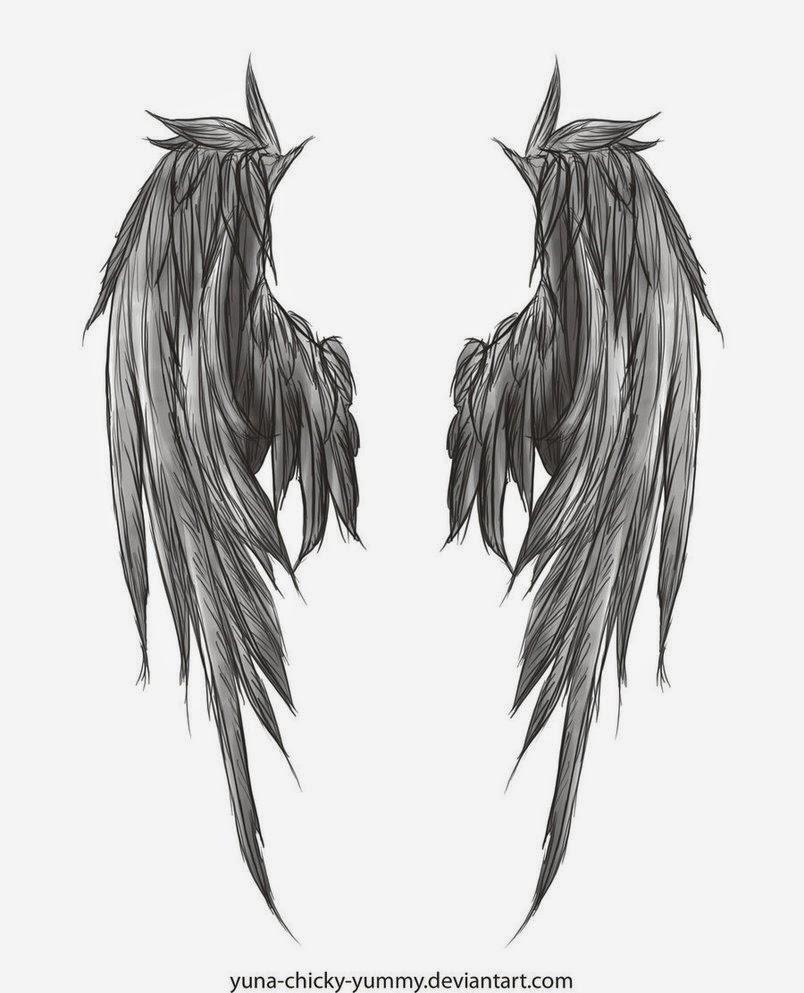 Gambar Tato Sayap Malaikat ( Angel Wing Tattoo )