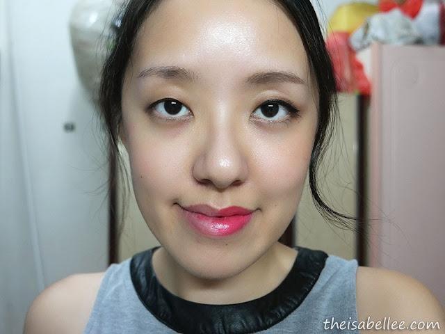 Half face with makeup