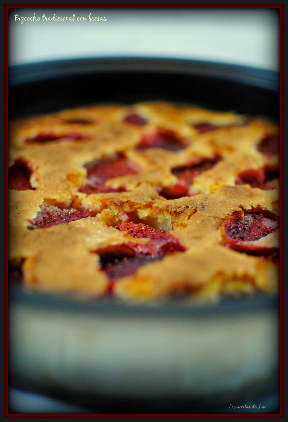 bizcocho tradicional con fresas tererecetas 02