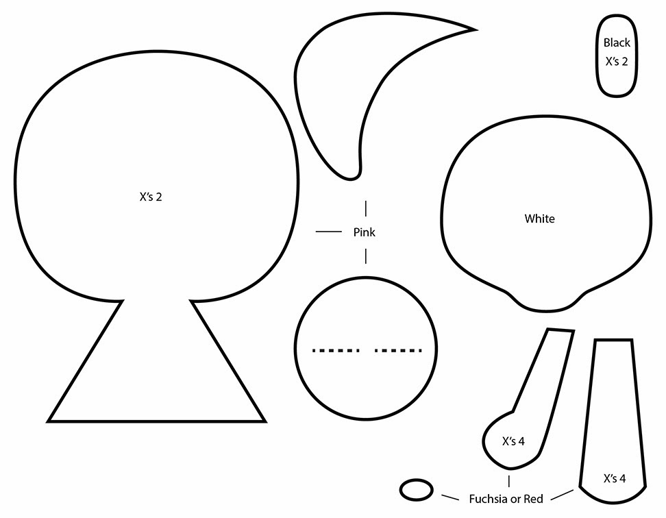 How to Make a tokidoki Ciao Ciao plushie template tutorial