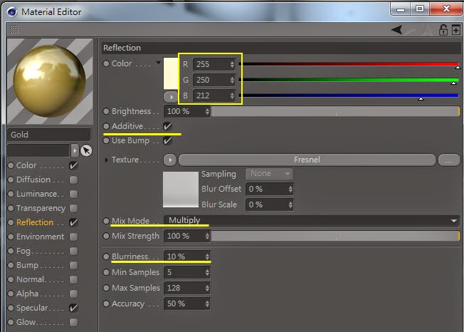 Gold Material Setting 19