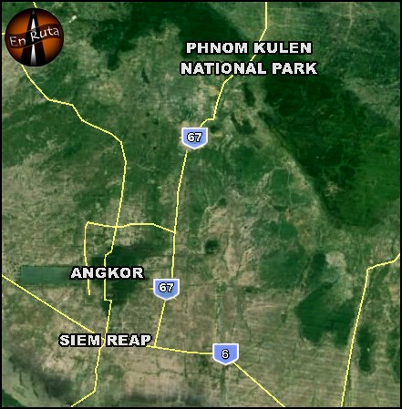 Phnom-Kulen-National-Park-Map