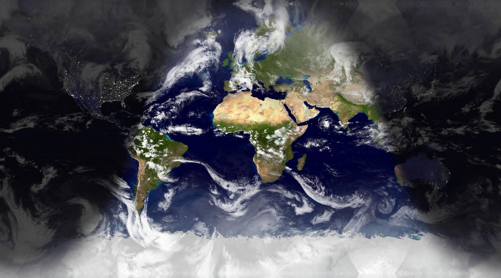 World Of Mysteries World Sunlight Map - World sunlight map