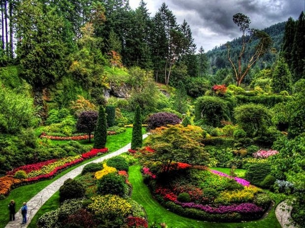 World's most beautiful gardens - Butchart Gardens, Canada