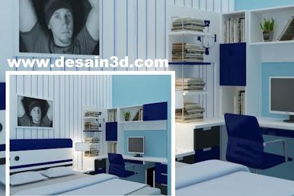 Desain kamar anak laki-laki nuansa biru
