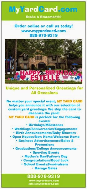 Personalized MY YARD CARD Greetings Are 125 Per Day Delivery Setup And Pickup All Included In The Price Of Your Custom Yard Signs