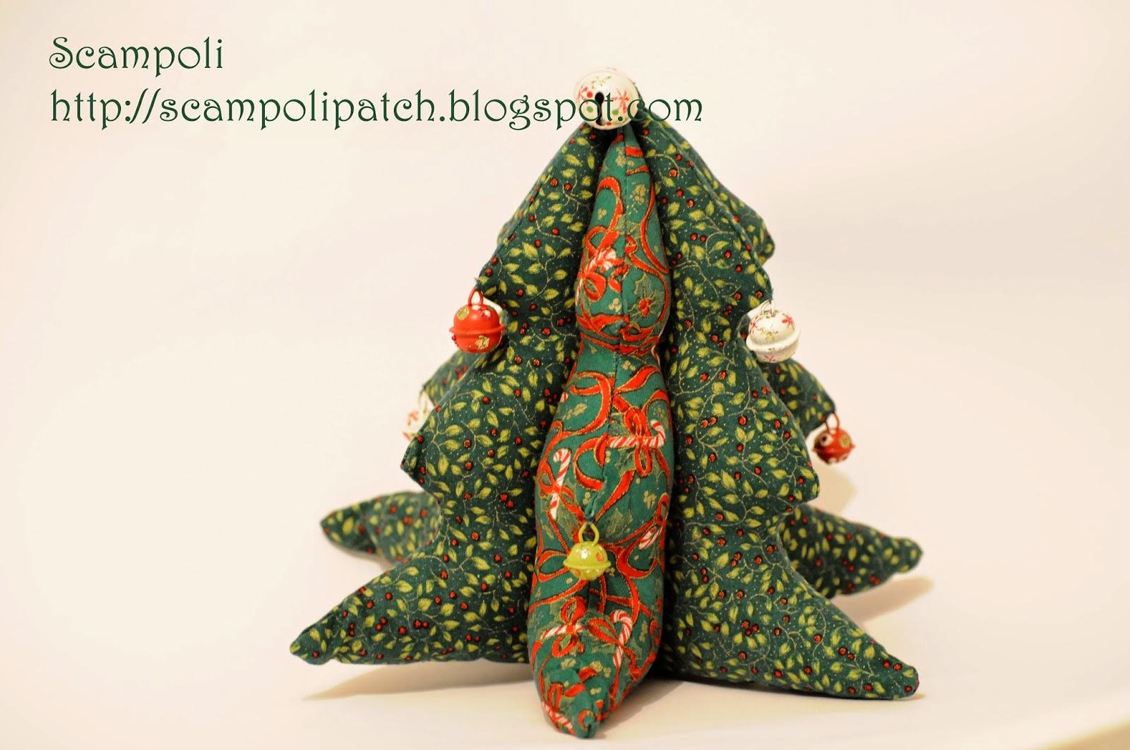 Scampoli navidad - Arbol de navidad de tela ...