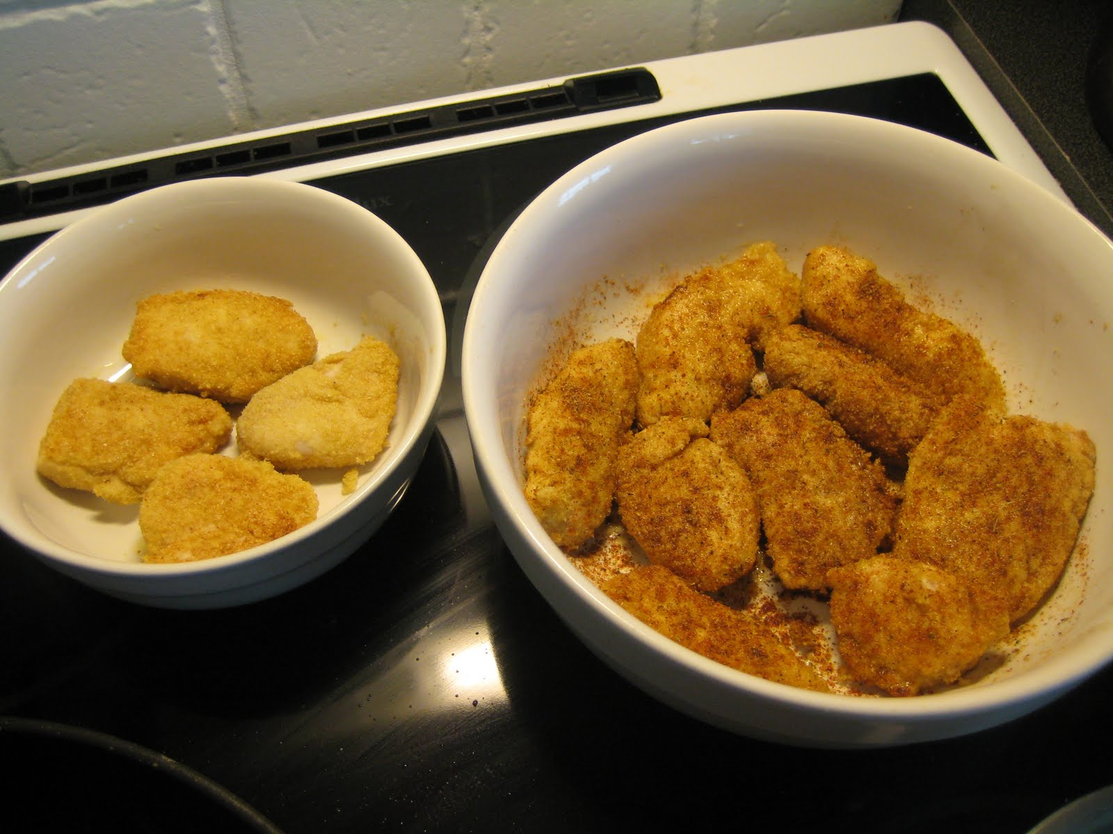 kyckling nuggets lchf