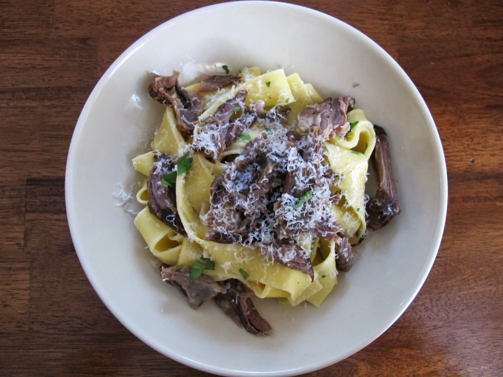 Short Rib Pasta with Butter and Parsley