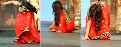 Bollywood Actress Poonam Dhillon falls while ramp walk Pics