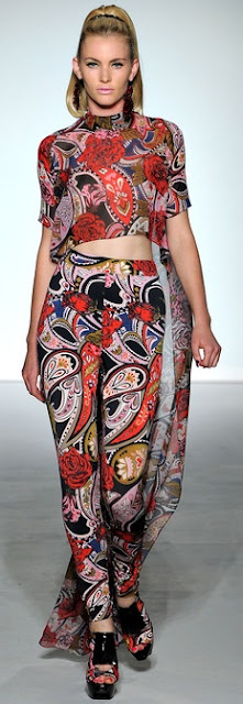 PPQ Spring 2013 rtw paisley print skinny trousers