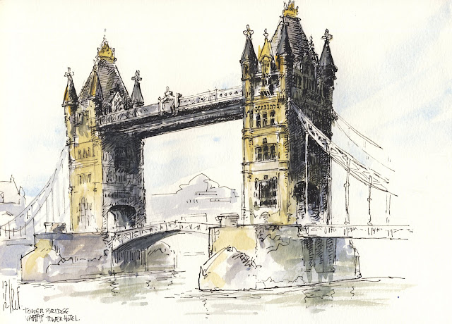 Rene Fijten Sketches Tower Bridge London