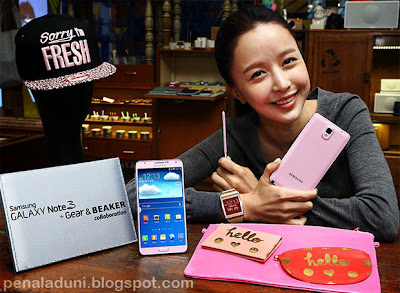 Samsung Galaxy Note 3 warna pink