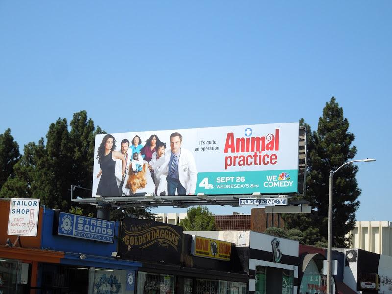 Animal Practice NBC billboard