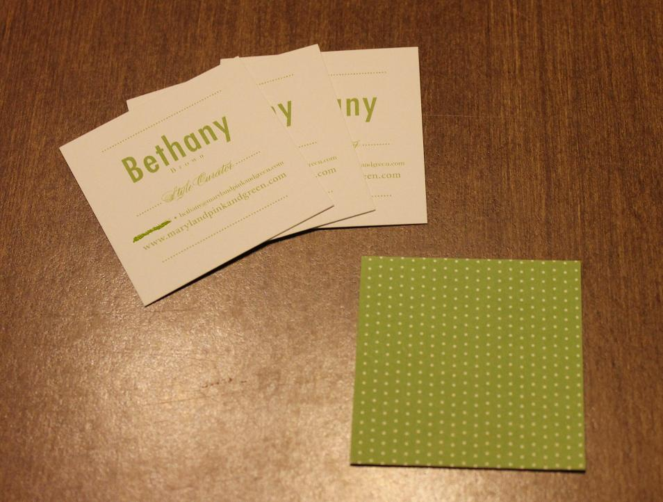 Maryland Pink and Green: 25 Free Personal Business Cards