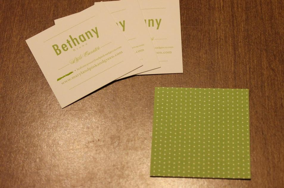 Maryland Pink and Green 25 Free Personal Business Cards