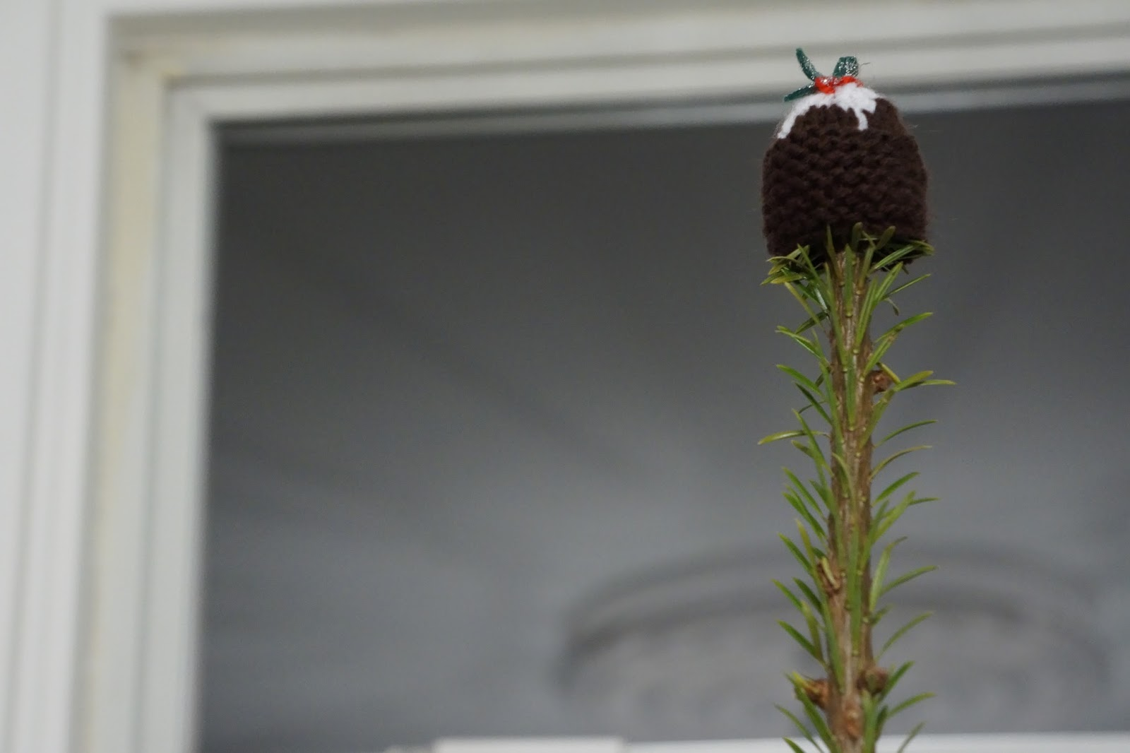 christmas tree christmas pudding topper