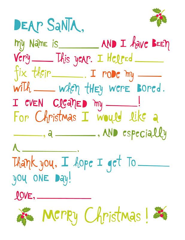 Printable dear santa letter template spiritdancerdesigns Image collections