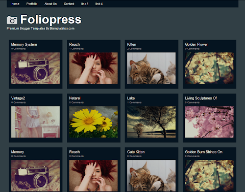 Foliopress Blogger Theme