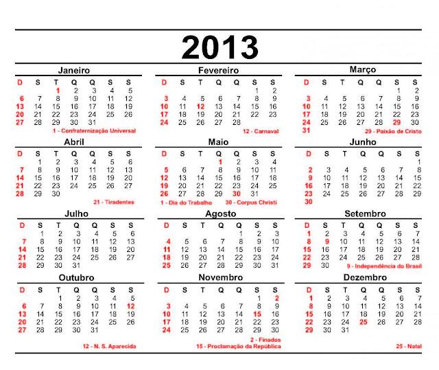 ... imprimir - Calendários para imprimir - Calendário 2013 modelos e