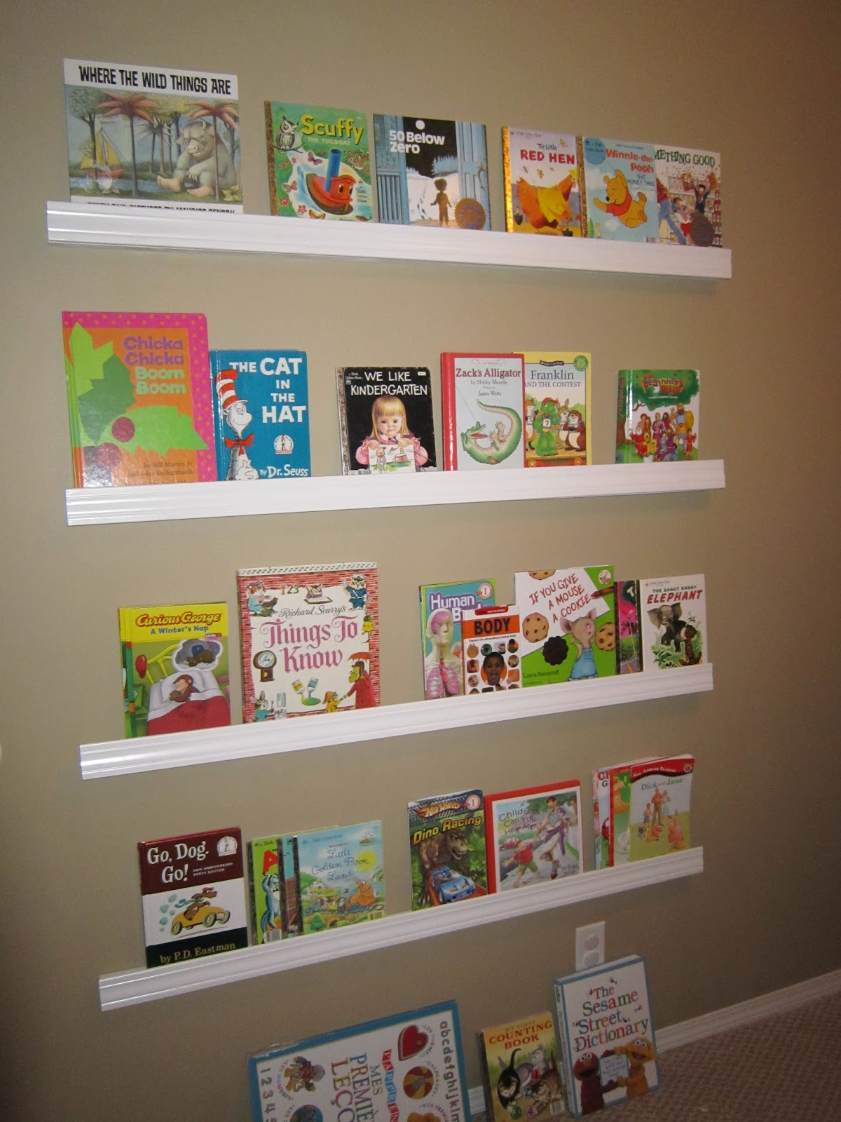kids storage white tidy wooden rack toddler shelf play book bookcase children bedroom itm gift off room sling s natural bookshelf