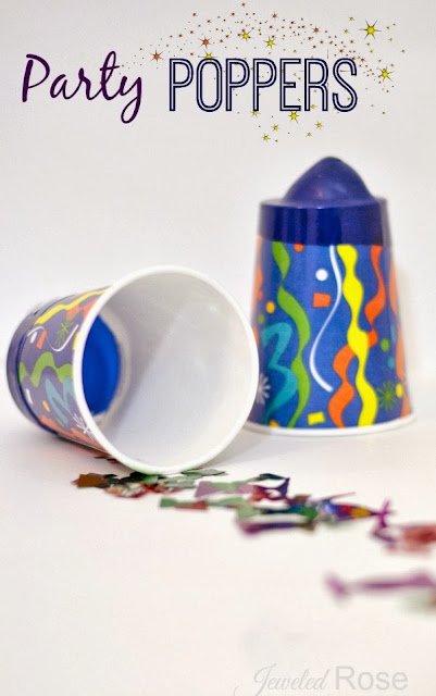 Party poppers allow kids to easily and safely launch confetti over and over again!  So fun!