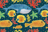 Sea Life Pattern by Haidi Shabrina