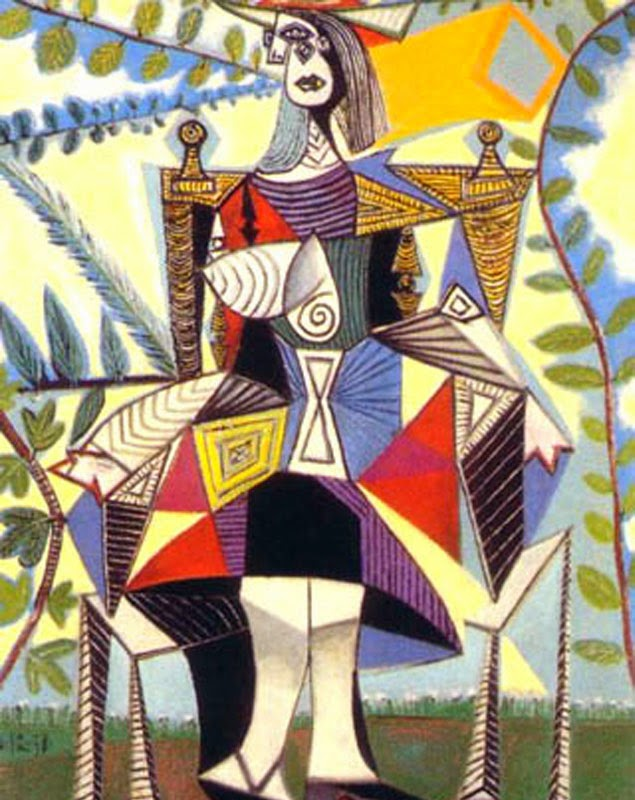 Pablo Picasso Seated Woman in a Garden