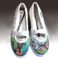 Sepatu Lukis Cewek,sepatu lukis,sepatu lukis cewe