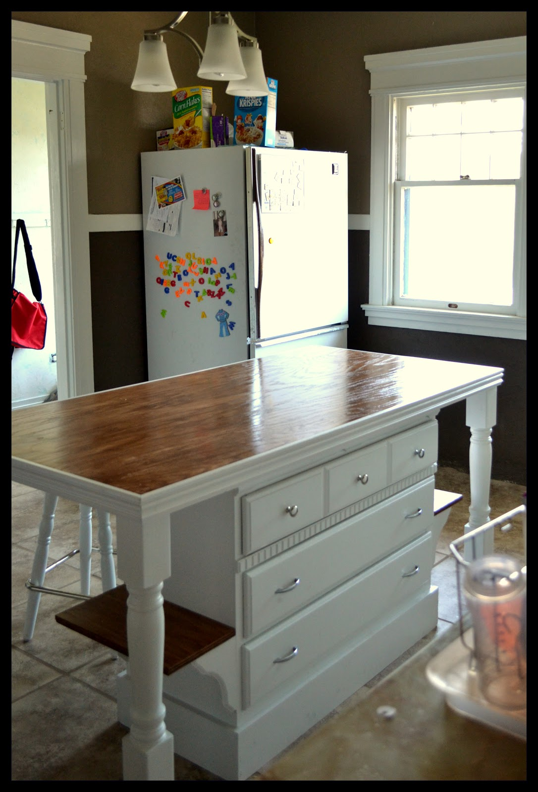 Small town small budget custom kitchen island - Kitchen islands for small kitchens ...