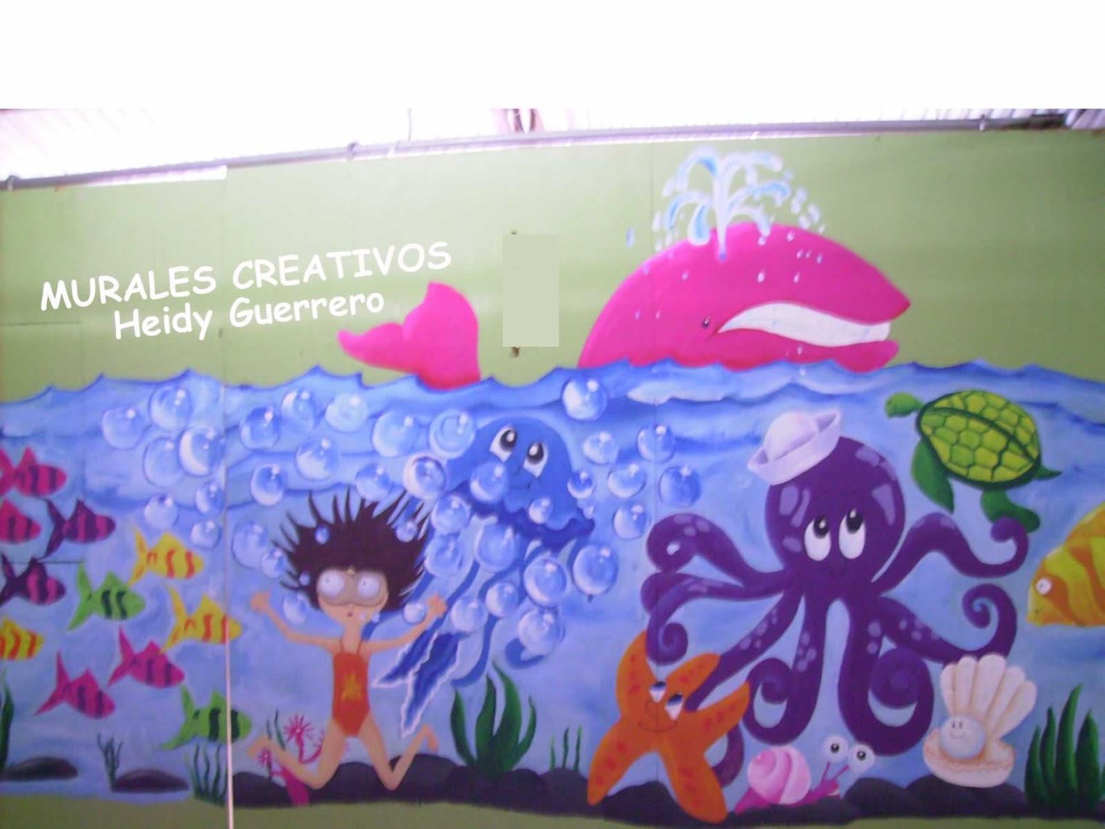Murales creativos heidy guerrero decoracion centro de for Decoracion verano para jardin infantil