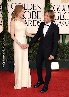 Actress Nicole Kidman and singer Keith Urban arrive at the 68th Annual Golden Globe Awards
