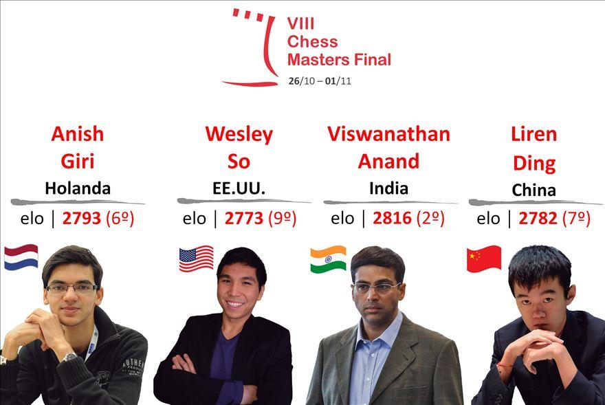 La Finale Grand Chlem de Bilbao se joue du 26 octobre au 1er novembre 2015 au théâtre Campos Elíseos, avec Viswanathan Anand, Anish Giri, Ding Liren et Wesley So