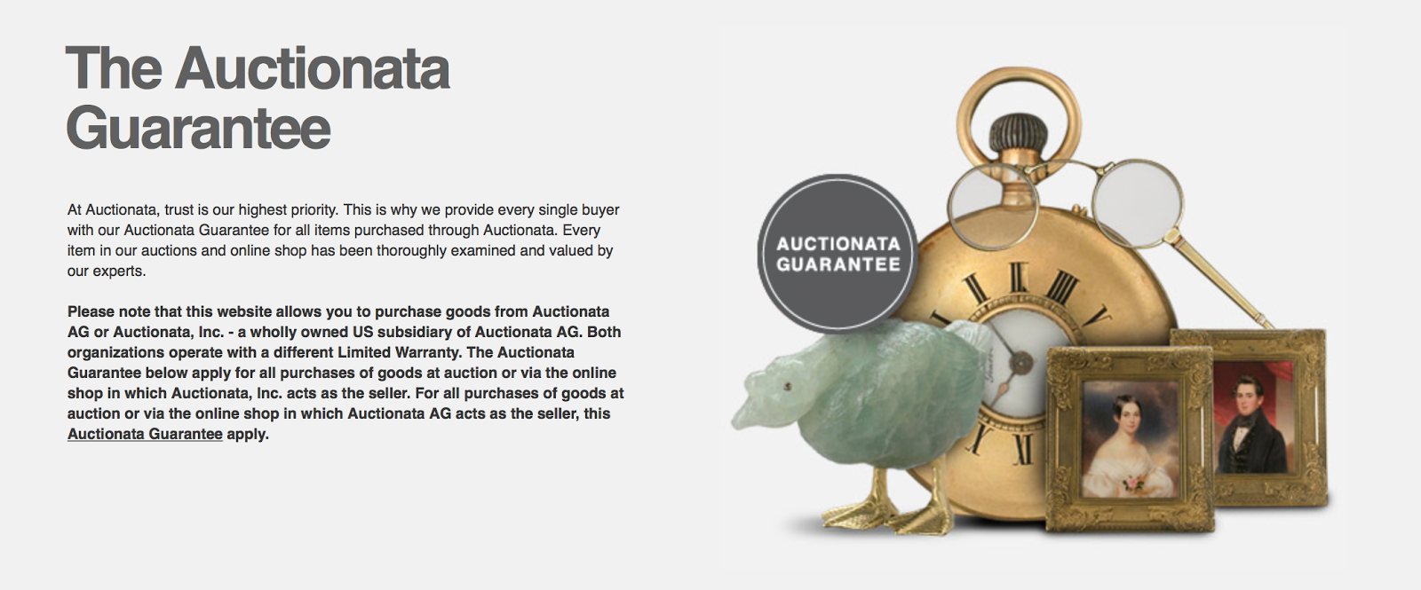 Auctionata Guarantee