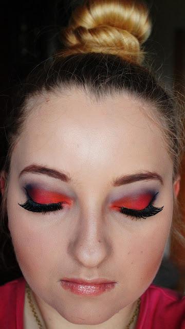 Makijaż-Ogień :)