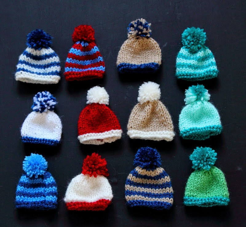 These little hats only take scraps and minutes to make, so if you'd
