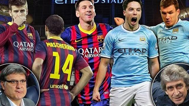 مانشستر سيتي ضد برشلونة تاريخ البلوغرانا ام ثراء السيتيزن