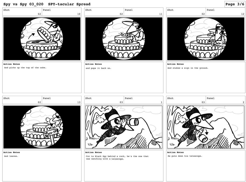 the wonderful world of kimberly u0026 39 s storyboards  spy vs spy