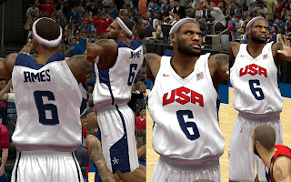 NBA 2K13 Team USA Home Jersey