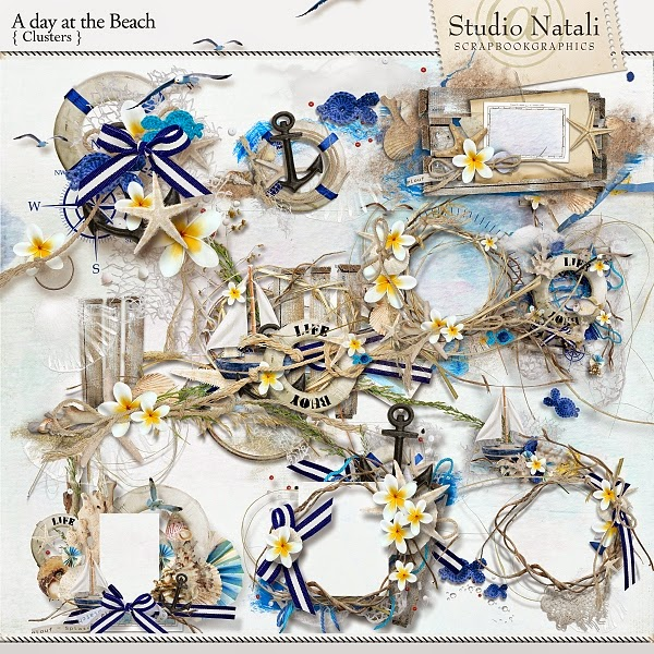 http://shop.scrapbookgraphics.com/A-day-at-the-beach-Clusters.html