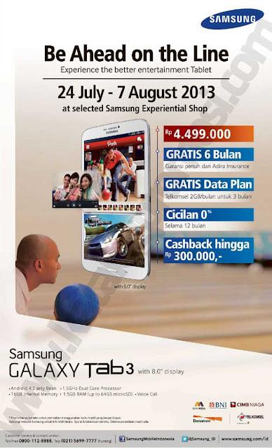 Promo peluncuran produk samsung terbaru Galaxy Tab 3 8 inci