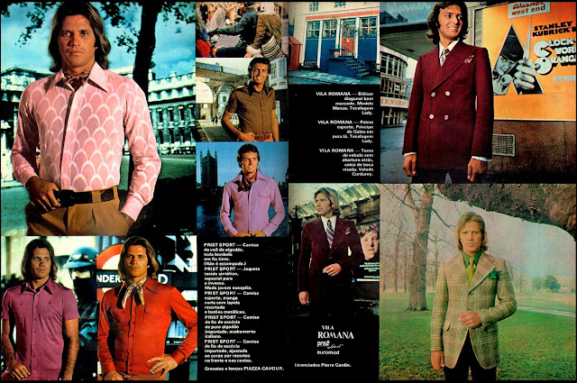 propaganda roupas Vila Romana - 1973.  Moda anos 70; propaganda anos 70; história da década de 70; reclames anos 70; brazil in the 70s; Oswaldo Hernandez