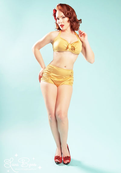 http://www.pinupgirlclothing.com/vintage-pinup-high-waisted-short-with-matching-sarong-in-gold-from-pinup-couture.html