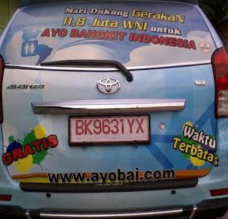 Mobil jejaring sosial Ayobai Ayo Bangkit Indonesia