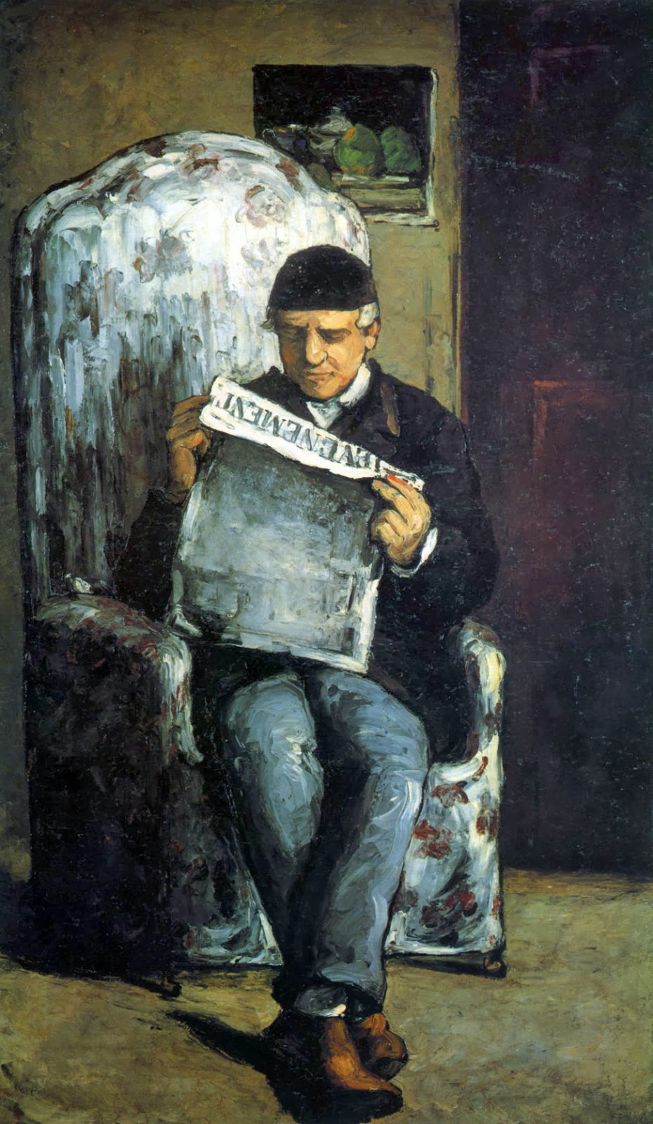 Paul Cezanne - Portrait of Louis Auguste Cezanne, the father of the artist reading