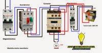 Maniobra motor monofasico con guardamotor contactor mas trafo 220v+24v para maniobra bobina contactor 24v