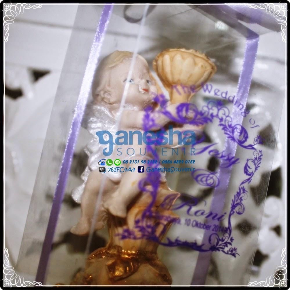 souvenir tempat lilin angel unik murah surabaya